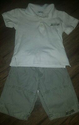 boys 2years DKNY short and t-shirt set