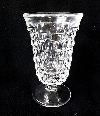 """3 Vintage Indiana Glass Whitehall 4 3/4"""" Footed Juice Goblets Tumblers Mint"""