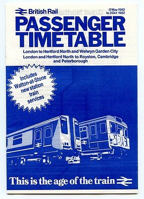 Br Great Northern Electrics Timetable 1982 + Hitchin Engineering Leaflet.