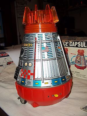 All Original Super  Space  Capsule      Japan Tin Toy   + Box  Space Toy  $149