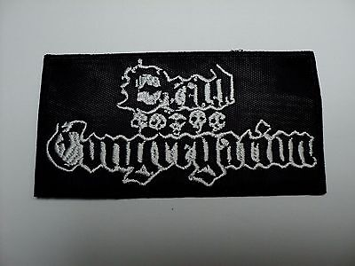 dead congregation WHITE  LOGO  EMBROIDERED PATCH