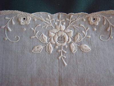 * Vintage Lace - Pair Of Cuffs - White - Embroidered Lawn [X]