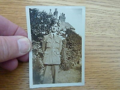 Ww2 1942 Original Small Photo Raf Aircraftsman 3.5 X 2.5 Inch