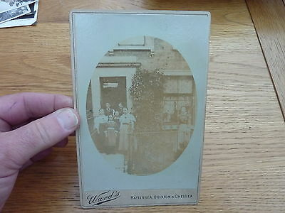 Original Victorian Cabinet Photo House & Family South London