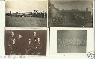 4 x WW1 group  postcards  British soldiers