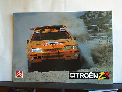 Citroen Zx Baja Aragon Rally Information Leaflet 1991