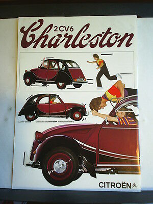 Citroen 2Cv 6 Charleston - Dutch Sales Brochure / Information Sheet 1981
