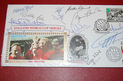 1966 World Cup 30Th Anniversary Fdc Signed By 10 Winners
