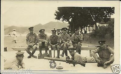 1 x WW1 era genuine photo Royal Marines training with Lewis Gun