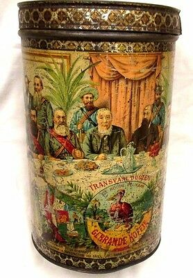 President Paul Krüger South Africa Boer War Coffee tin 1890s