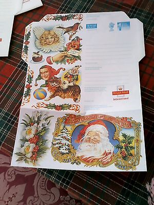 3 Royal Mail aerogrammes- Christmas 1992