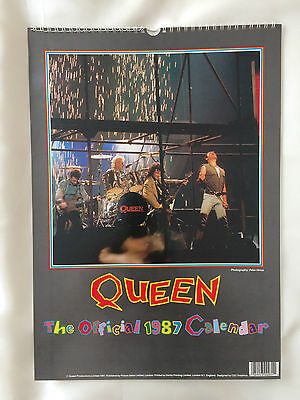 Queen - Official 1987 Calendar - Freddie Mercury,Brian May, Roger Taylor....etc