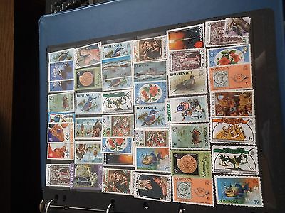A selection of DOMINICA stamps
