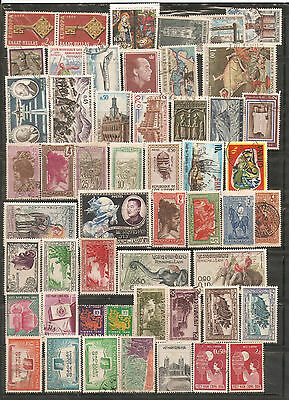a stock page of mixed used & some MH world stamps,starting with Greece.