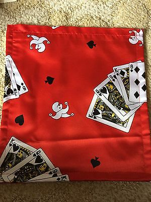 New Flat magic Change bag, Red Cards
