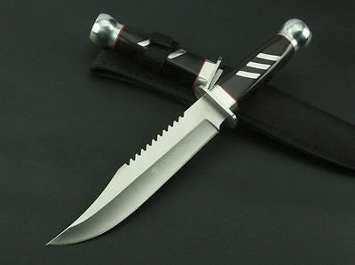 """12"""" Tactic Survival Camping Collect Hunting KNIFE Outdoor Sports Fixed Edge 302A"""