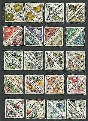 40 Different   umm / mnh  Triangular Stamps in Pairs