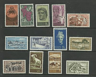 CYPRUS 1962  Drfinitives   umm / mnh set