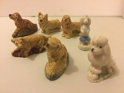 7 Wade Whimsies Dogs Corgi Poodles Spaniel Labrador Lovely Condtion