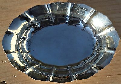 """ESTATE REED & BARTON STERLING OVAL DISH or BOWL-255-4 1/2"""" X 6 1/4"""" CANDY NUTS"""