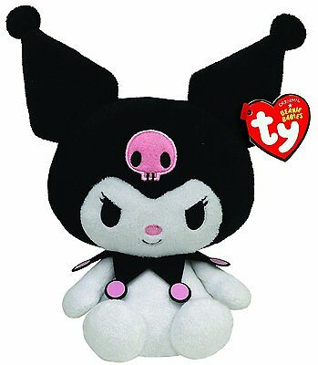 Ty Beanie Babies Kuromi 6ins Soft Plush Hello Kitty 40882 BNWT Collectible