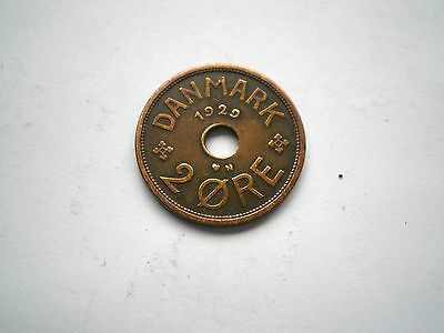 EARLY- 2 ORE COIN FROM DENMARK DATED 1929 nice