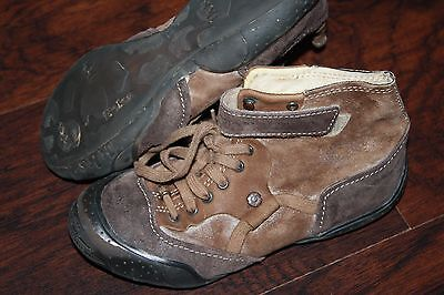 IKKS  youth boys Size 33 (US 1) brown suede ankle shoes Super cool!