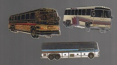 Bus pins: Orleans Express; 2 diff. MCI
