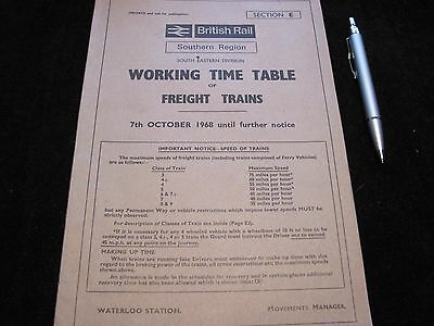 Br Sr Working Timetable Freight South Eastern Division Sect E 1968