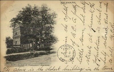 Raleigh NC Birthplace of President Johnson c1910 Postcard