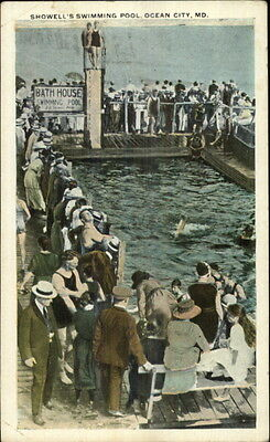 Ocean City MD Showell's Swimming Pool c1920 Postcard