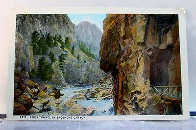 Scenic Shoshone Canyon First Tunnel Postcard Old Vintage Card View Standard Post