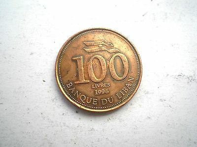 100 LIVRES COIN FROM LEBANON-DATED 1996-nice