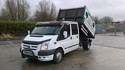 2013 63 ford transit crew cab tipper truck no vat low miles lorry modified