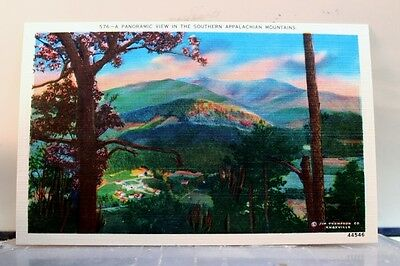 Scenic Southern Appalachian Mountains Panoramic Postcard Old Vintage Card View