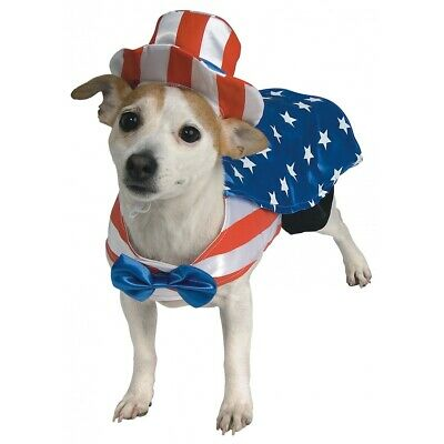 Uncle Sam Costume Pet 4th of July Fancy Dress