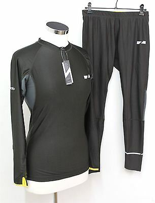 BNWT ZONDO Ladies Charcoal Stretch Breathable Tracksuit Top & Cropped Bottoms XL