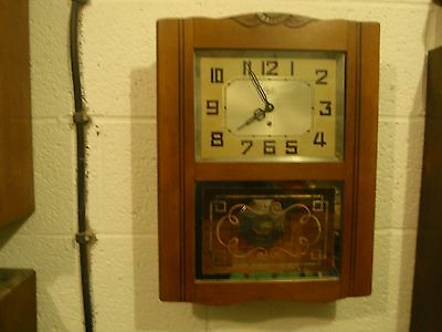 "Antique french ""odo"" wall clock"