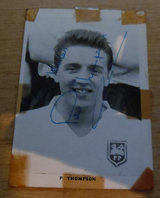 1960's Peter Thompson Signed Preston North End Trade Card