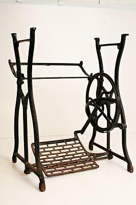 CAST IRON Treadle Base legs side table stand sewing machine industrial vintage K