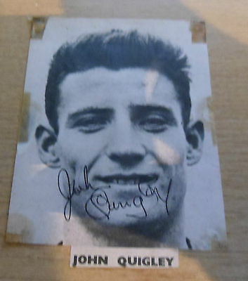 1960's Johnny Quigley Signed Nottingham Forest Huddersfield Mansfield Town Photo