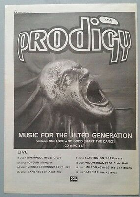 THE PRODIGY MUSIC FOR THE.. ORIG MM 1994 Magazine Advert Poster Size #%