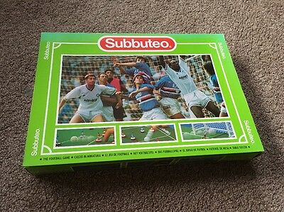 Subbuteo Table Football Soccer Game - Complete, Boxed - Red & Blue Players