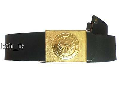 West german army NAVY black leather belt + buckle with eagle 90cm Unity-Justice