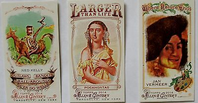 Topps Allen and Ginter 2014 three tobacco cards binder exclusive Pocahontas