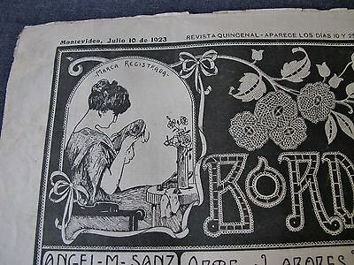 ANTIQUE JULY 10 1923 EMBROIDERY JOURNAL w/ PATTERNS, LACES, ALPHABETS, MONOGRAMS