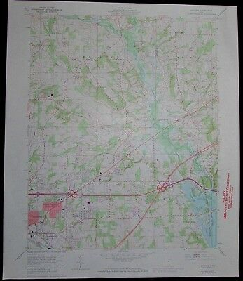 Pavonia Ohio Mansfield Charles Mill Lake vintage 1973 old USGS Topo chart