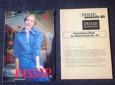 PASSAP DUOMATIC 80 PATTERN BOOK No 30 EXCELLENT CONDITION