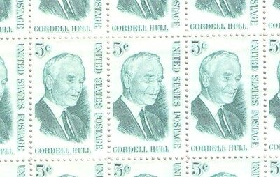 USA 1963 Full Sheet of 5c Cordell Hull Stamps MNH