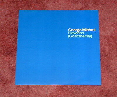 """GEORGE MICHAEL Flawless (Go to The City) Light Cover PROMO 2nd Issue 12"""" Mint"""